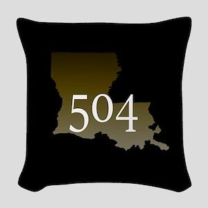 NOLA 504 Louisiana Woven Throw Pillow