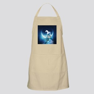 White Unicorn Apron