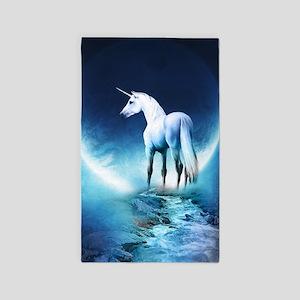 White Unicorn Area Rug
