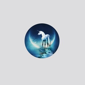 White Unicorn Mini Button