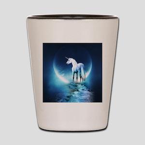 White Unicorn Shot Glass