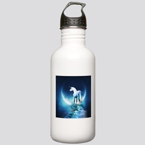 White Unicorn Sports Water Bottle