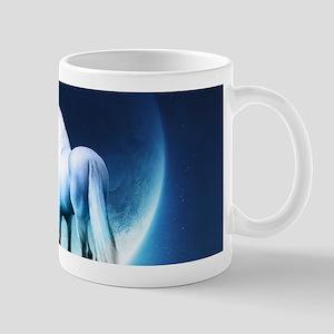 White Unicorn Mugs