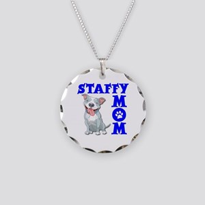 STAFFY MOM Necklace Circle Charm