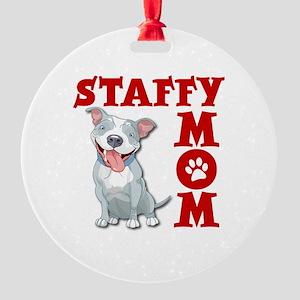 STAFFY MOM Round Ornament