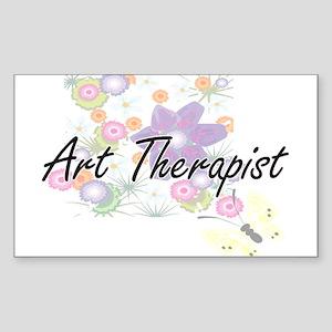 Art Therapist Artistic Job Design with Flo Sticker