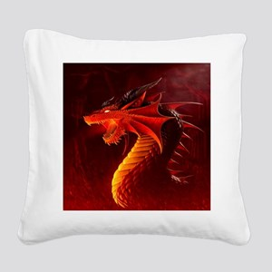 Fire Dragon Square Canvas Pillow