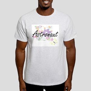 Astronaut Artistic Job Design with Flowers T-Shirt