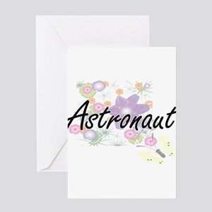 Astronaut Artistic Job Design with Greeting Cards