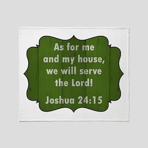 JOSHUA 24:15 Throw Blanket