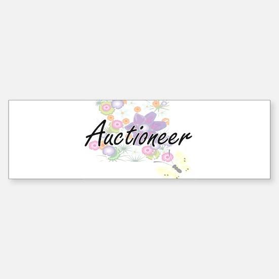 Auctioneer Artistic Job Design with Bumper Bumper Bumper Sticker