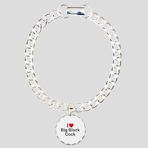 Big Black Cock Charm Bracelet, One Charm