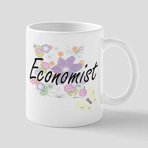 Economist Artistic Job Design with Flowers Mugs
