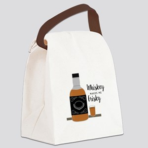 Frisky Whiskey Canvas Lunch Bag