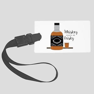 Frisky Whiskey Luggage Tag