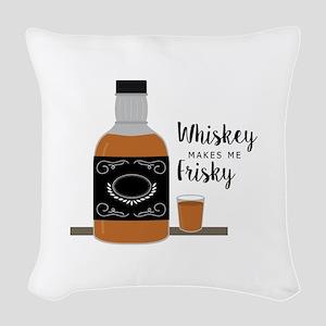 Frisky Whiskey Woven Throw Pillow