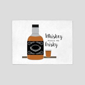 Frisky Whiskey 5'x7'Area Rug