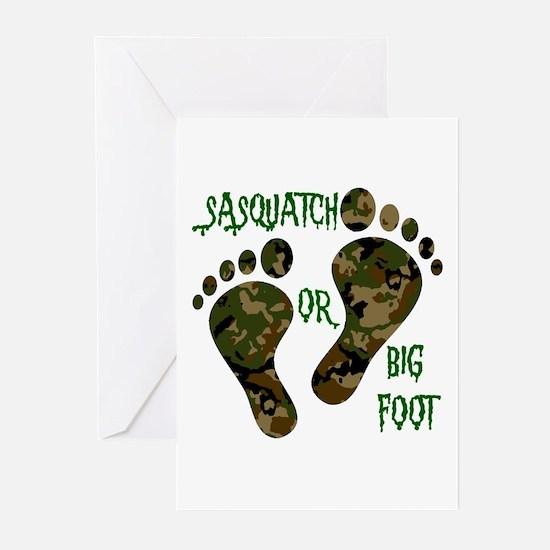 Sasquatch Or Big Foot Greeting Cards