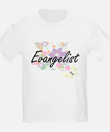Evangelist Artistic Job Design with Flower T-Shirt