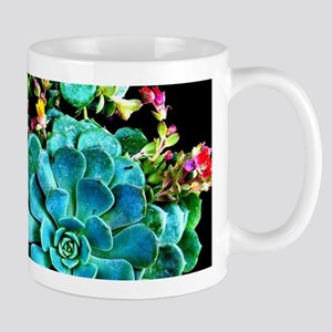 Beautiful Autumn plant green, blue Mugs