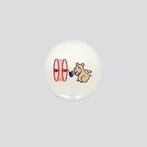 Hamster with Squeaky Wheel Mini Button