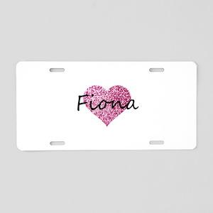 Fiona Aluminum License Plate