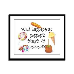 What Happens at PopPop's... Framed Panel Print