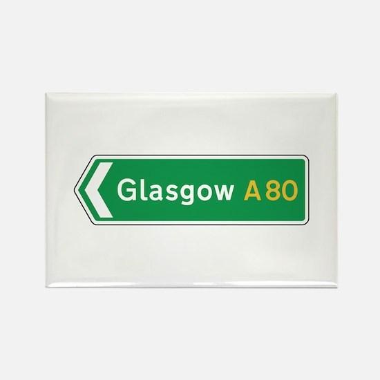 Glasgow Roadmarker, UK Rectangle Magnet