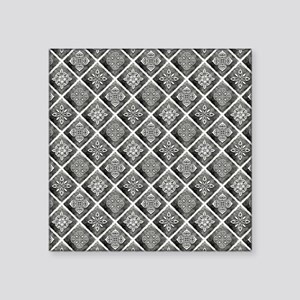 "BOHEMIAN TILE Square Sticker 3"" x 3"""