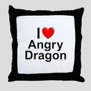 Angry Dragon Throw Pillow