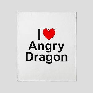 Angry Dragon Throw Blanket