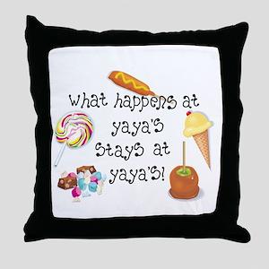 What Happens at YaYa's... Throw Pillow