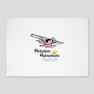 Aviation Adventure 5'x7'Area Rug