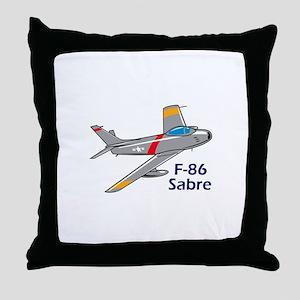 Sabre Jet Throw Pillow