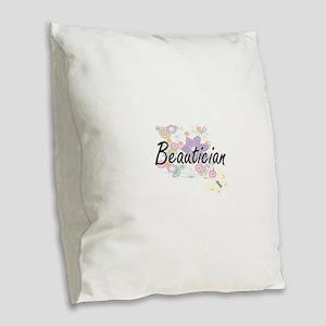 Beautician Artistic Job Design Burlap Throw Pillow