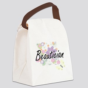 Beautician Artistic Job Design wi Canvas Lunch Bag