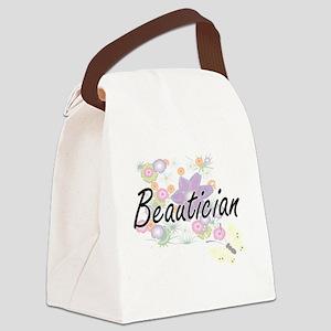 Beautician Artistic Job Design wi Canvas Lunch Bag