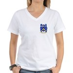 Mussolini Women's V-Neck T-Shirt