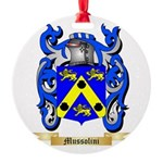 Mussolini Round Ornament