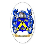 Mussolini Sticker (Oval)