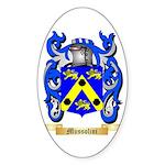 Mussolini Sticker (Oval 50 pk)