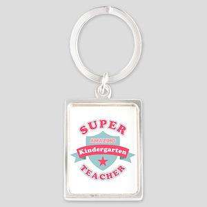Super Kindergarten Teacher Portrait Keychain