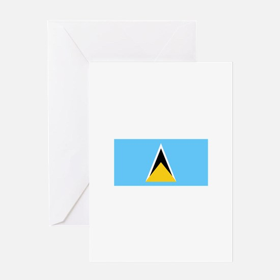 Flag of Saint Lucia Greeting Cards