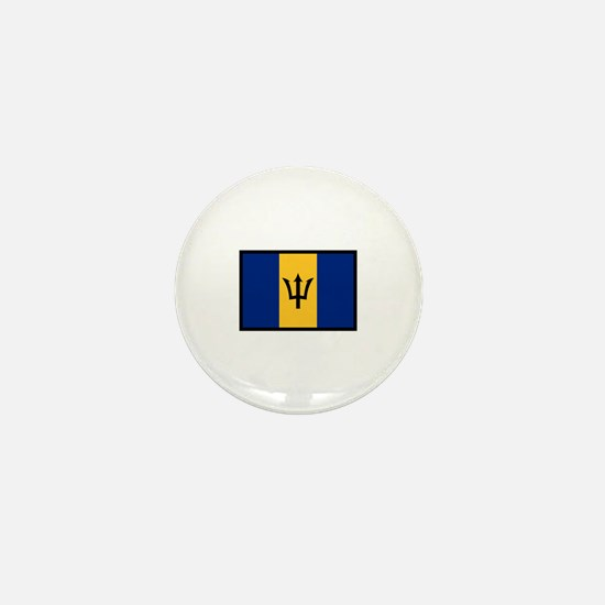 Flag Of Barbados Mini Button