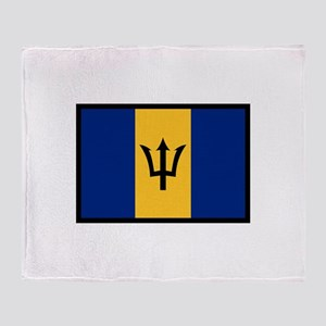Flag Of Barbados Throw Blanket