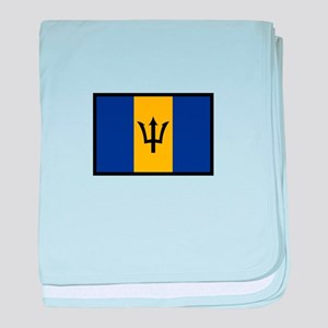 Flag Of Barbados baby blanket