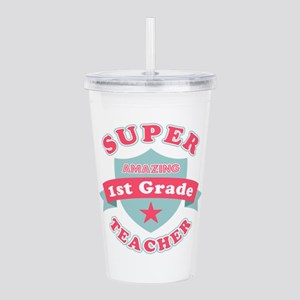 Super 1st Grade Teache Acrylic Double-wall Tumbler