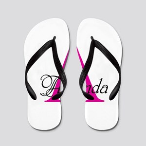 Initial, Name or text personalize Flip Flops
