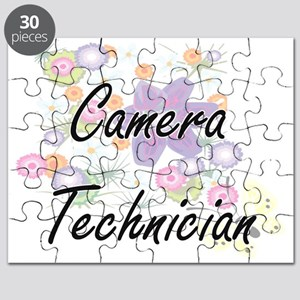 Camera Technician Artistic Job Design with Puzzle