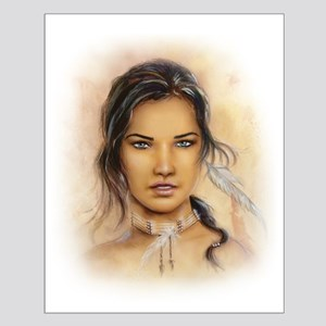 Native American Woman Small Poster